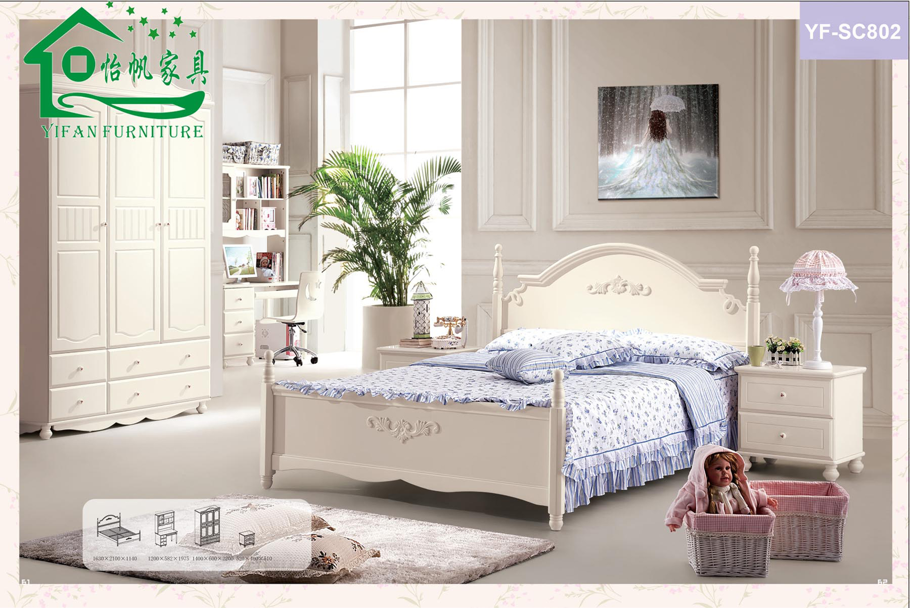 Luxury Children Bedroom Idea With White Bed Frame With Blue Bed Sheet White Night Stand With White Desk Lamp And White Wardrobe Lovable Children Bedroom Ideas (Image 52 of 123)