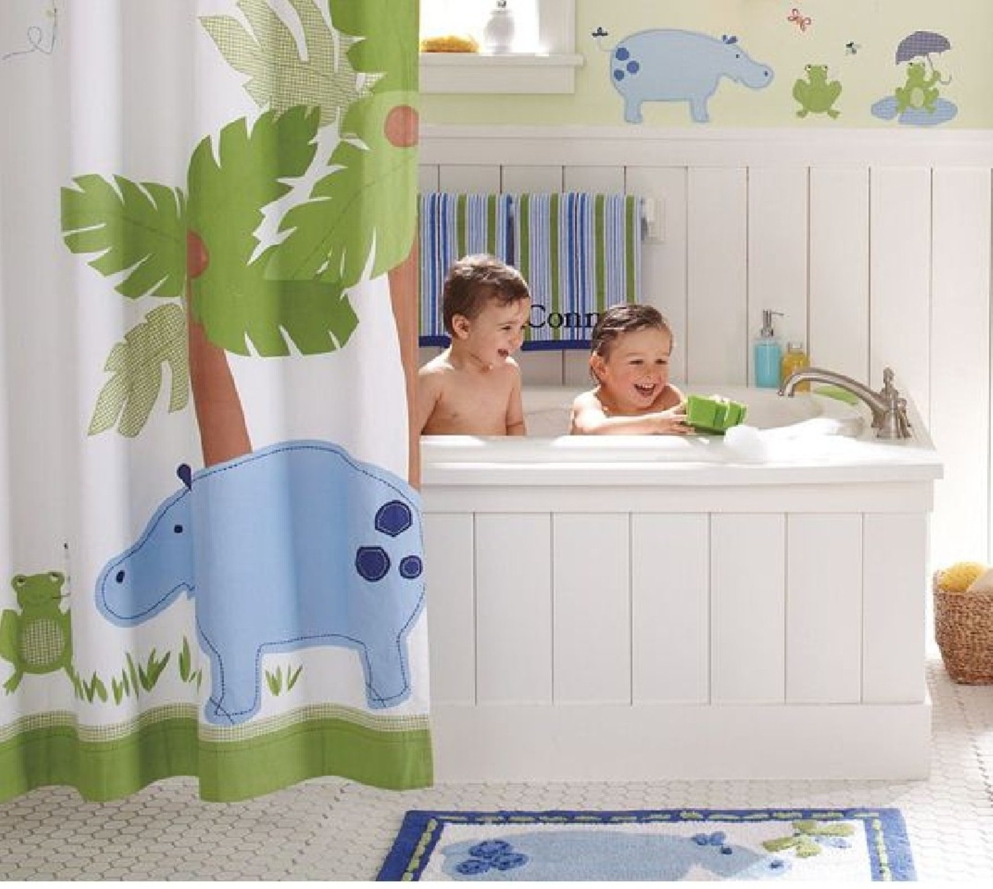 Luxury Kids Bathroom Tile Ideas To The Inspiration Design Ideas With The Best Examples Of The Luxury Kids Bathroom (Image 14 of 15)