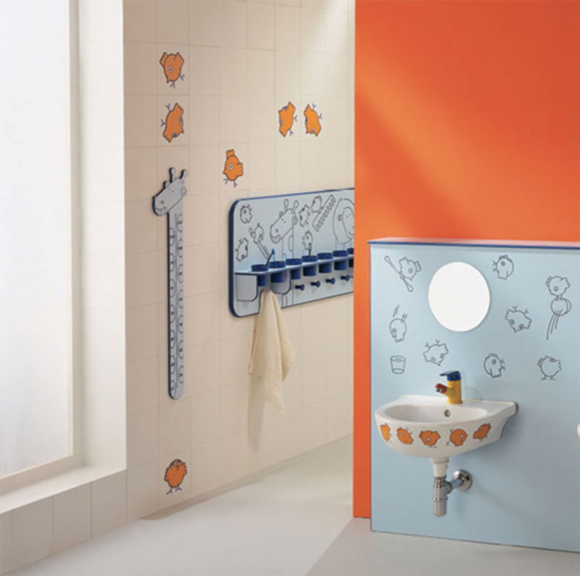 Luxury Kids Bathroom Tile Ideas With Mesmerizing Design Ideas Which Gives A Natural Sensation For Comfort