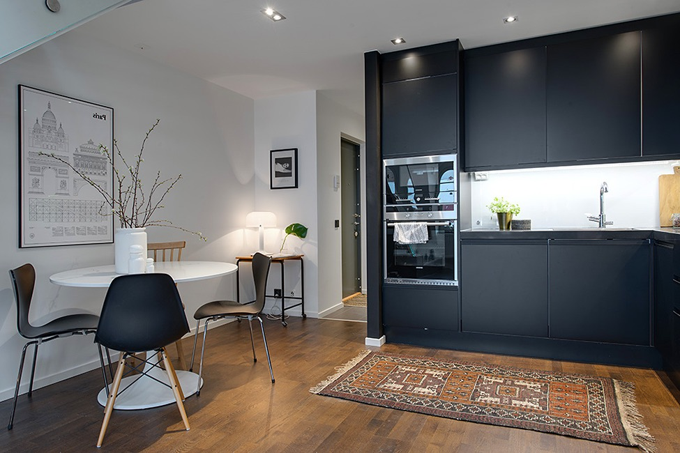 Minimalist Kitchen And Dining Area Combination For Charming Apartment (View 12 of 15)