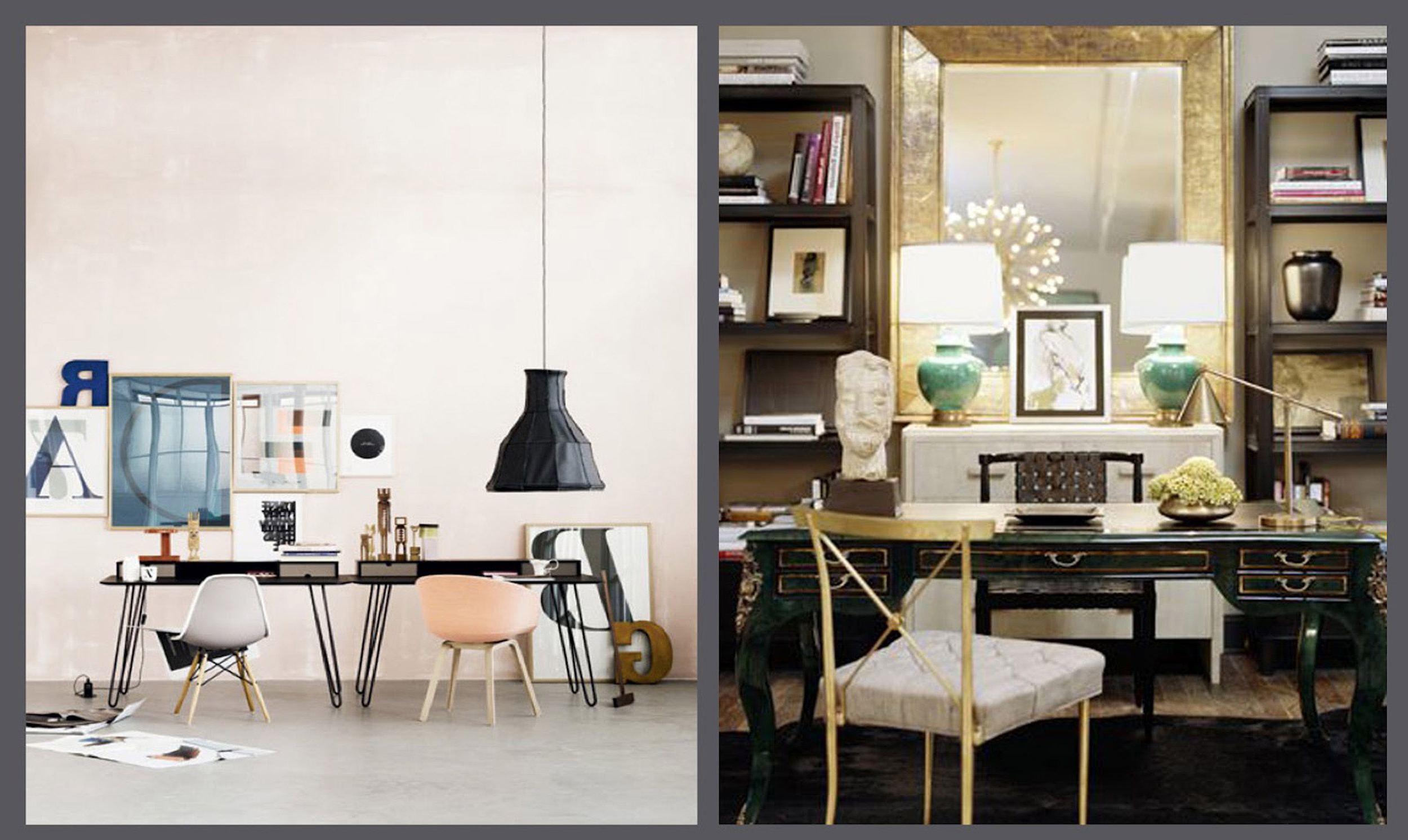 Popular Vintage And Modern Home Office Space Design Ideas (View 14 of 30)