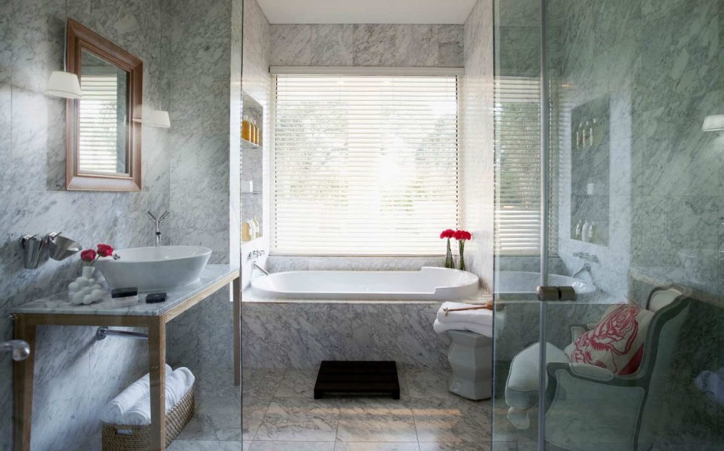Pretty Bathroom Inspiration With Stools Into (Image 14 of 28)