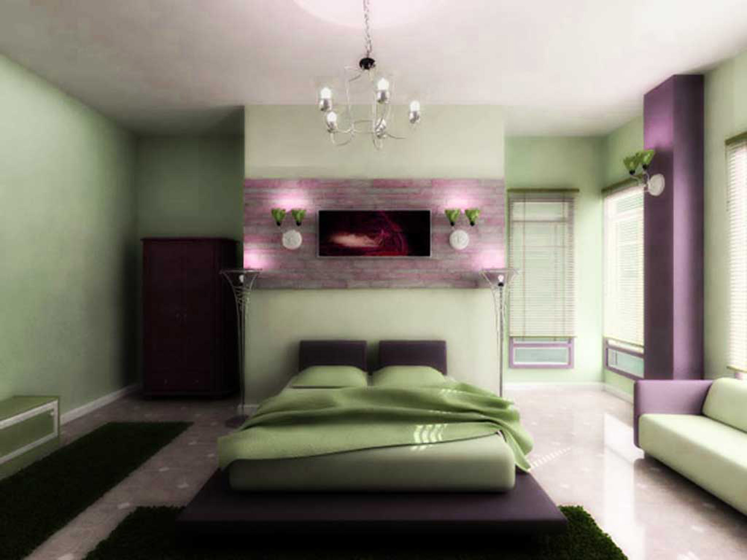 Pretty Purple Bedside Wall Lights Bedroom Lighting Tips Best Combined With Green Ornaments Modern Bedroom Lighting Design Ideas (Image 24 of 28)