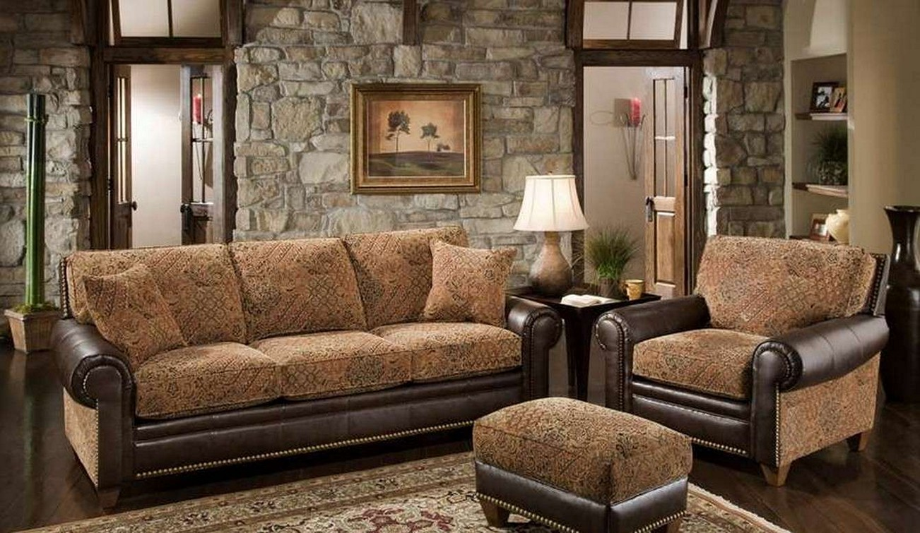Rustic Living Room Sofa Sets For Rustic Interior With Modern Nuance (Image 6 of 10)