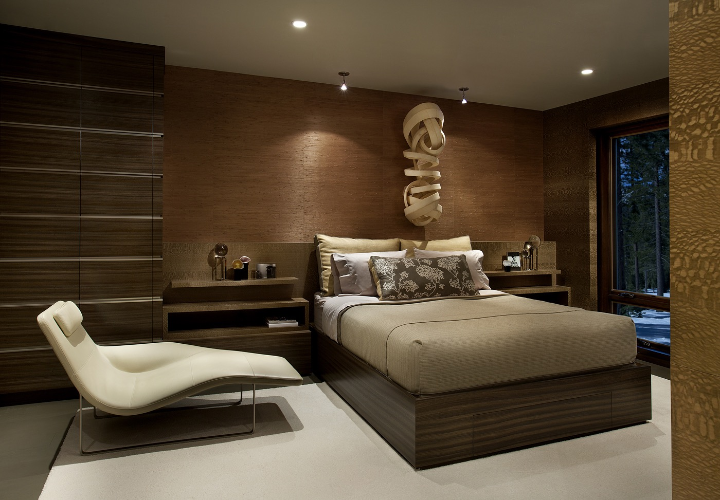 2017 Modern Bedroom In Warm Brown Tones (Image 1 of 23)