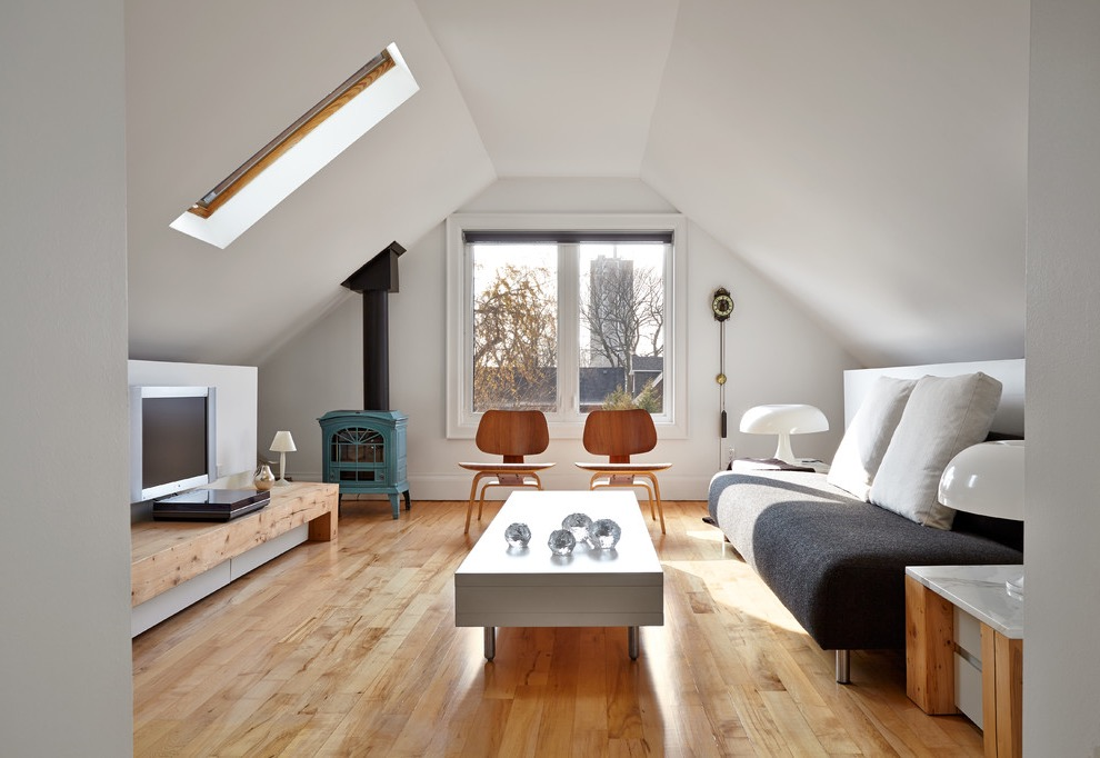 2017 Best Contemporary Attic Living Room With Minimalist Furniture (Image 1 of 26)