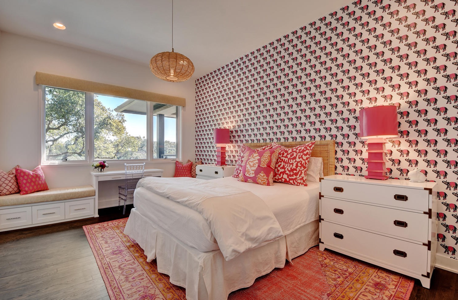 Beautiful Large Interior For Girls Bedroom Brimming With Whimsy (Image 4 of 30)