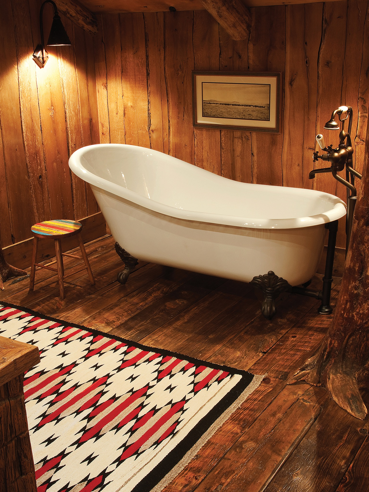 Classic Wooden Bathroom Rustic Interior Design (Image 13 of 29)