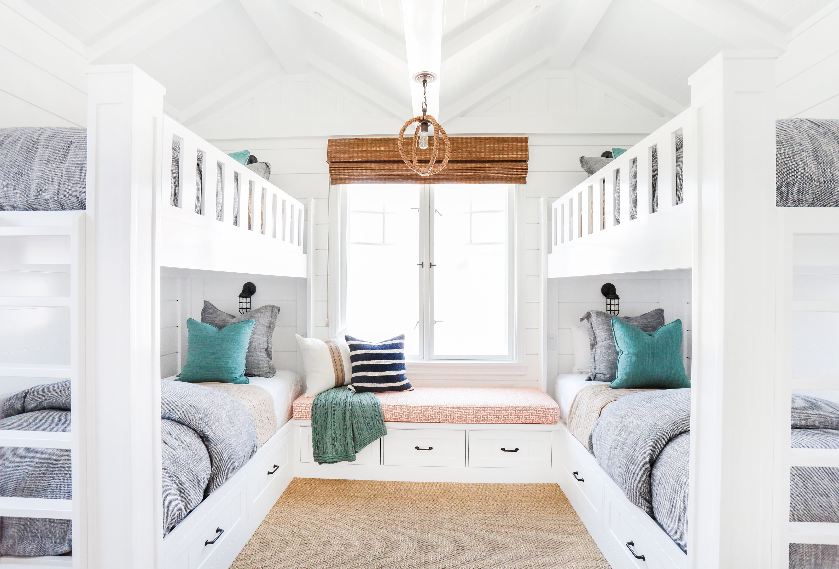 Coastal Kids Bedroom In Bright White Color Theme (Image 11 of 35)