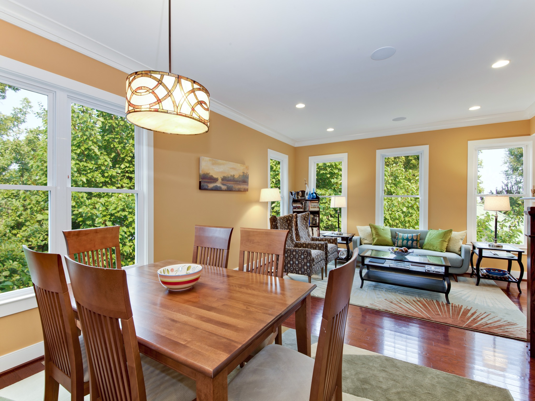 Combined Living And Dining Space In Trendy Design (Image 8 of 34)