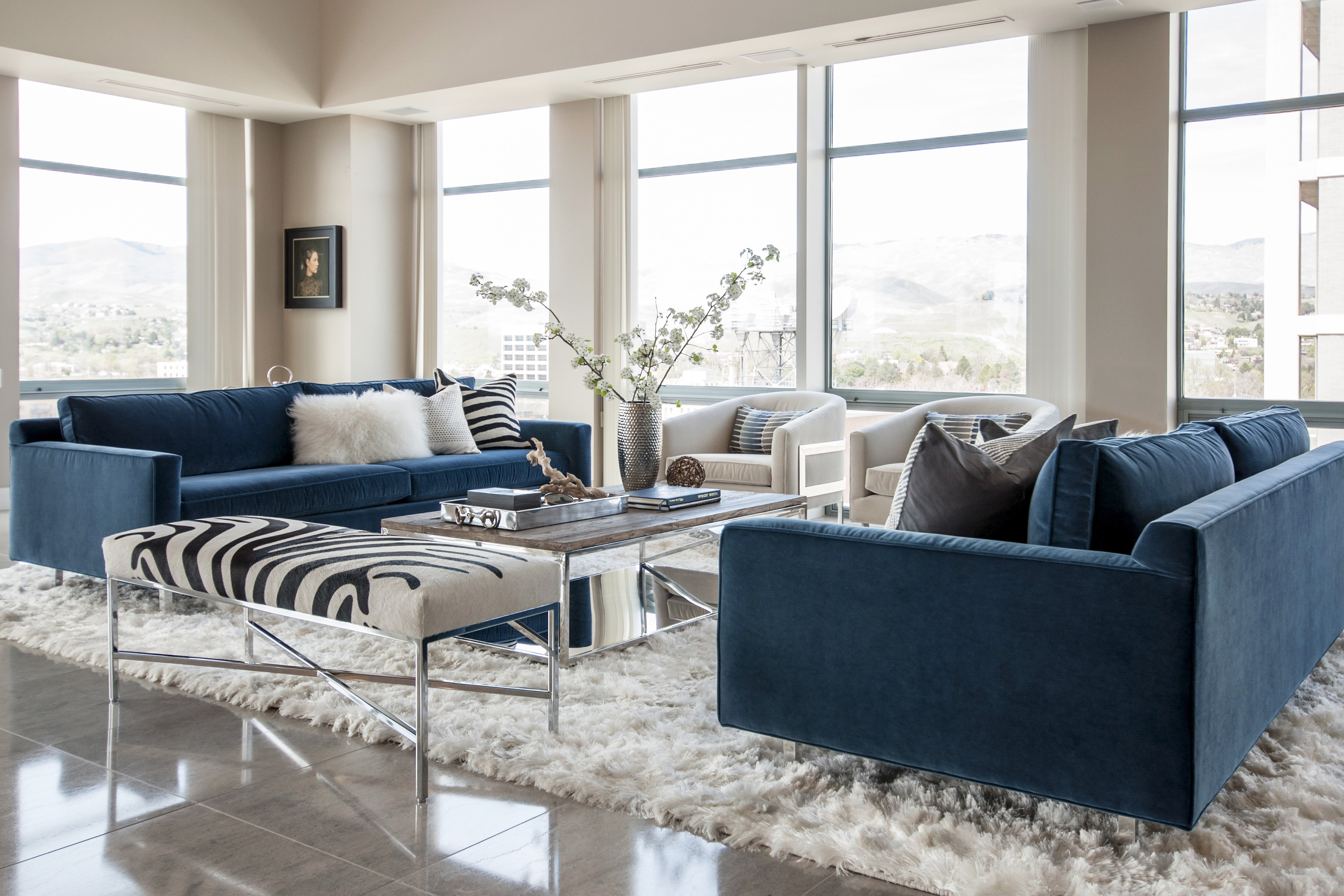Comfy Contemporary Apartment Living Room Features Plenty Of Windows (View 9 of 27)