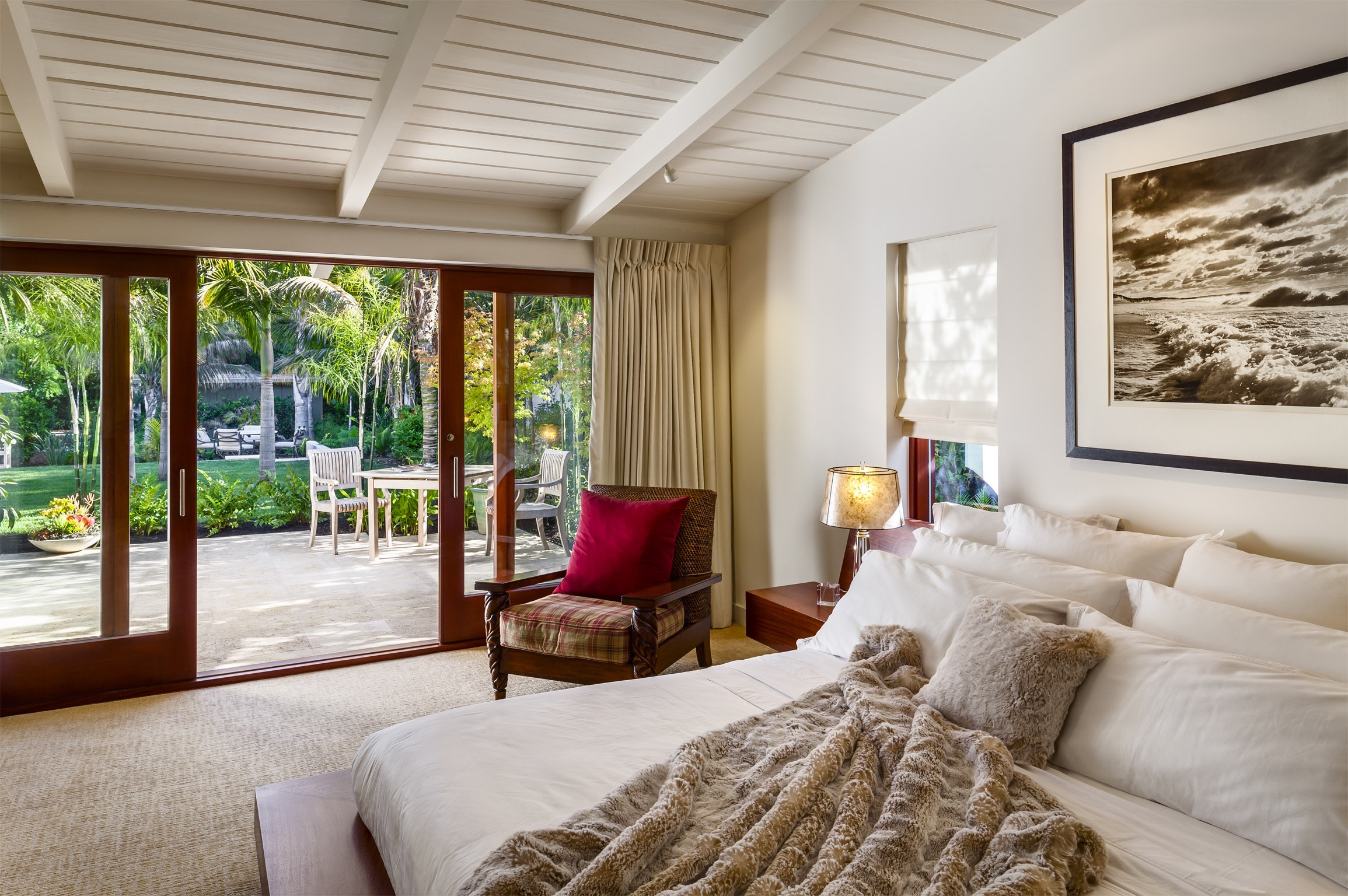Contemporary Sliding Glass Door For Modern Tropical Bedroom With Outdoor Patio Access (Image 3 of 13)