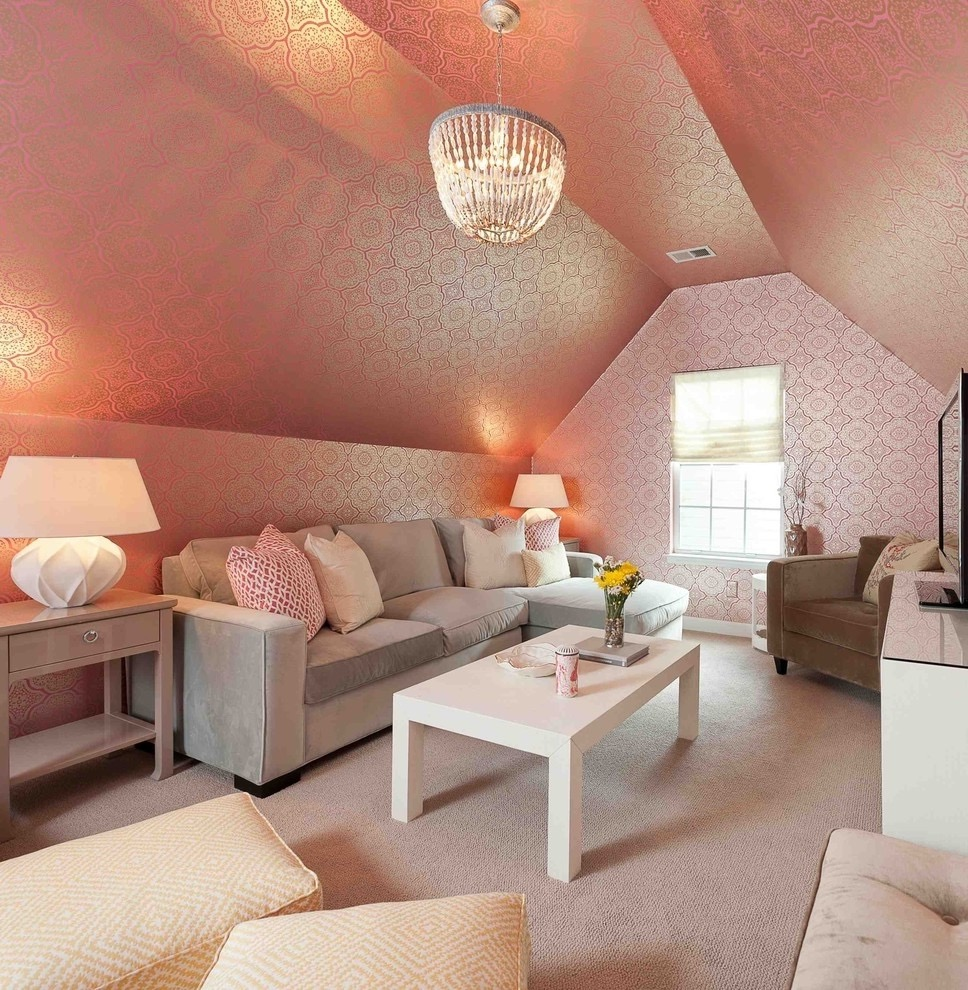 Cozy And Beautiful Living Room In Attic (Image 14 of 26)