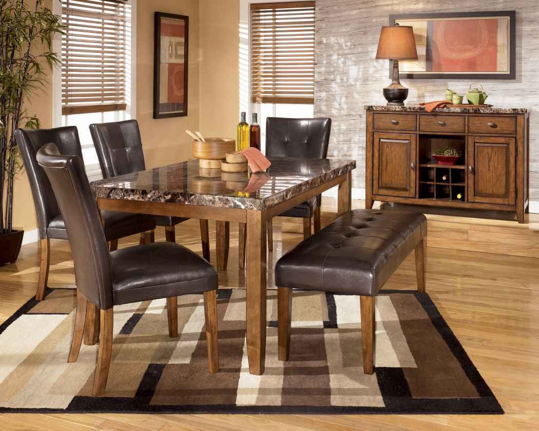 Decorative Rustic Dining Room With Contemporary Furniture (Image 8 of 36)