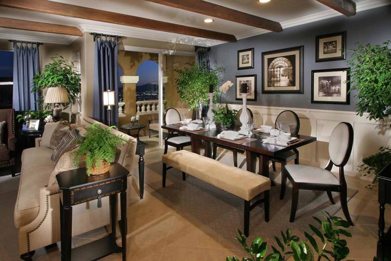 Rustic dining room and living room interior 16059 dining room ideas for Living room and dining room ideas