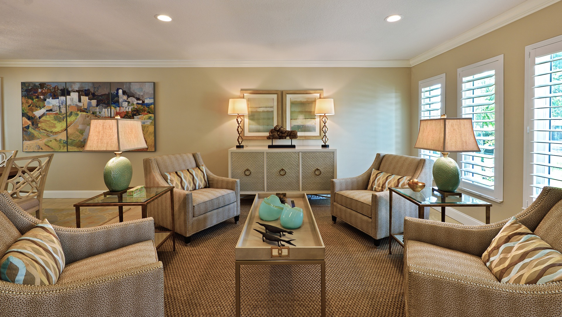 Elegance Comfortable American Living Room Interior (View 18 of 27)