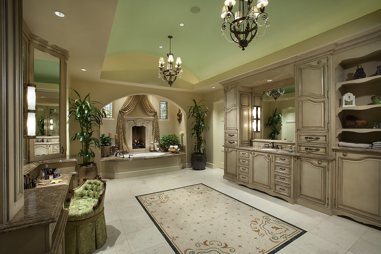 Enormous Classic Bathroom Exudes Luxury Large Interior (Image 20 of 29)