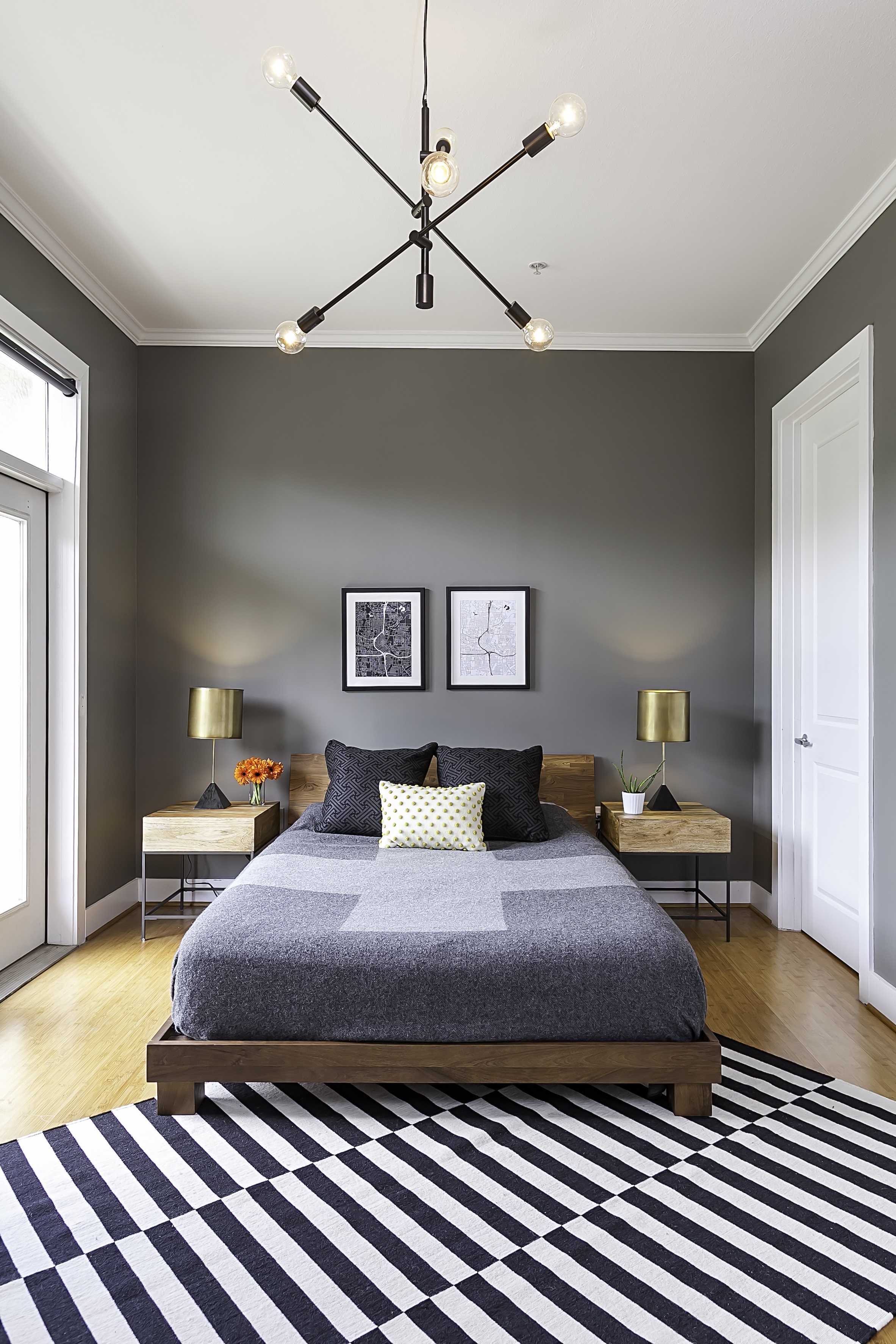 Gray Paint In Contemporary Bedroom (Image 6 of 22)