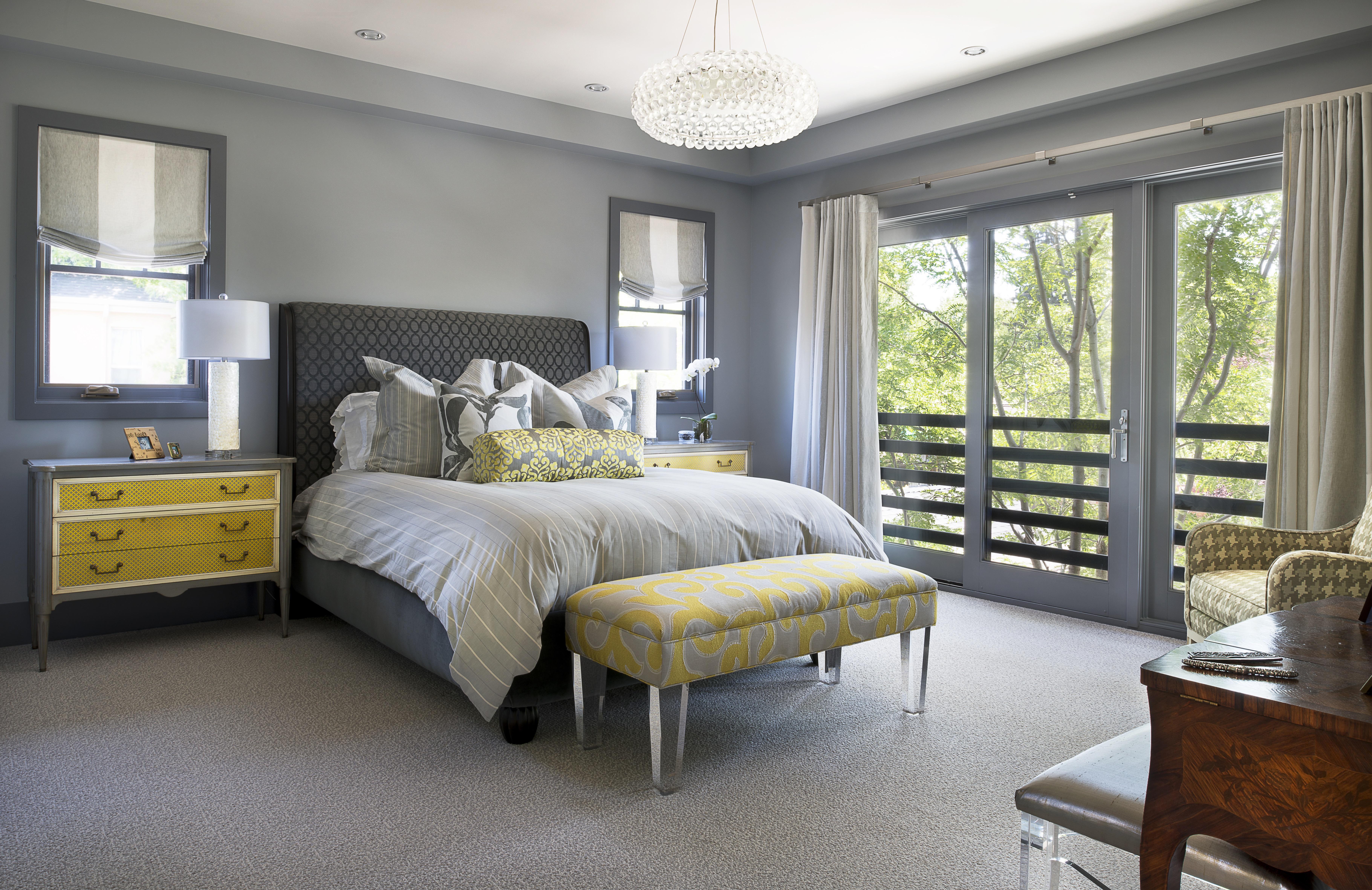 Marvelous Grey Bedroom With Brown Furniture Izfurniture