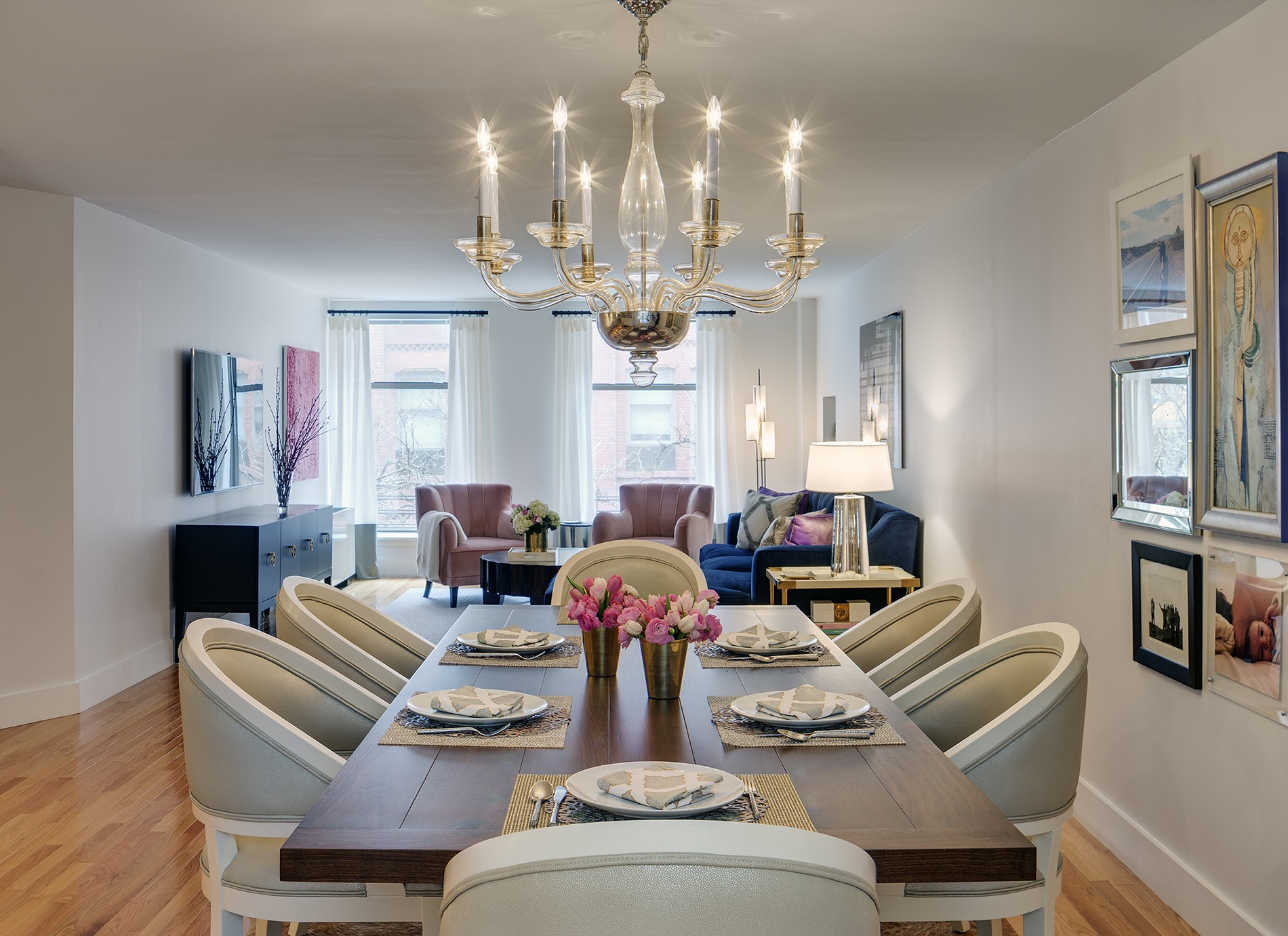 Living And Dining Room Combination Manifests Stylish Comfort (Image 21 of 34)
