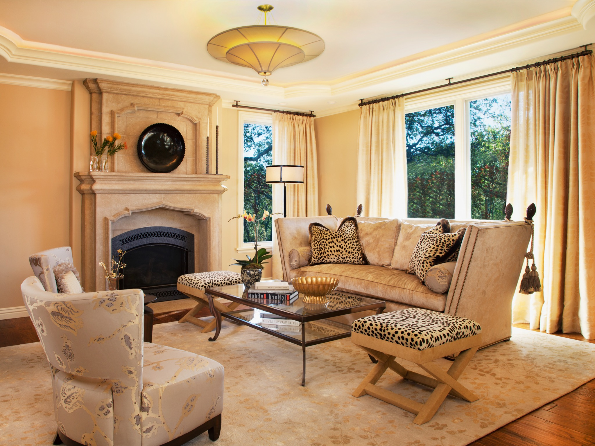 Mediterranean Formal Living Room With Fireplace (Image 5 of 25)