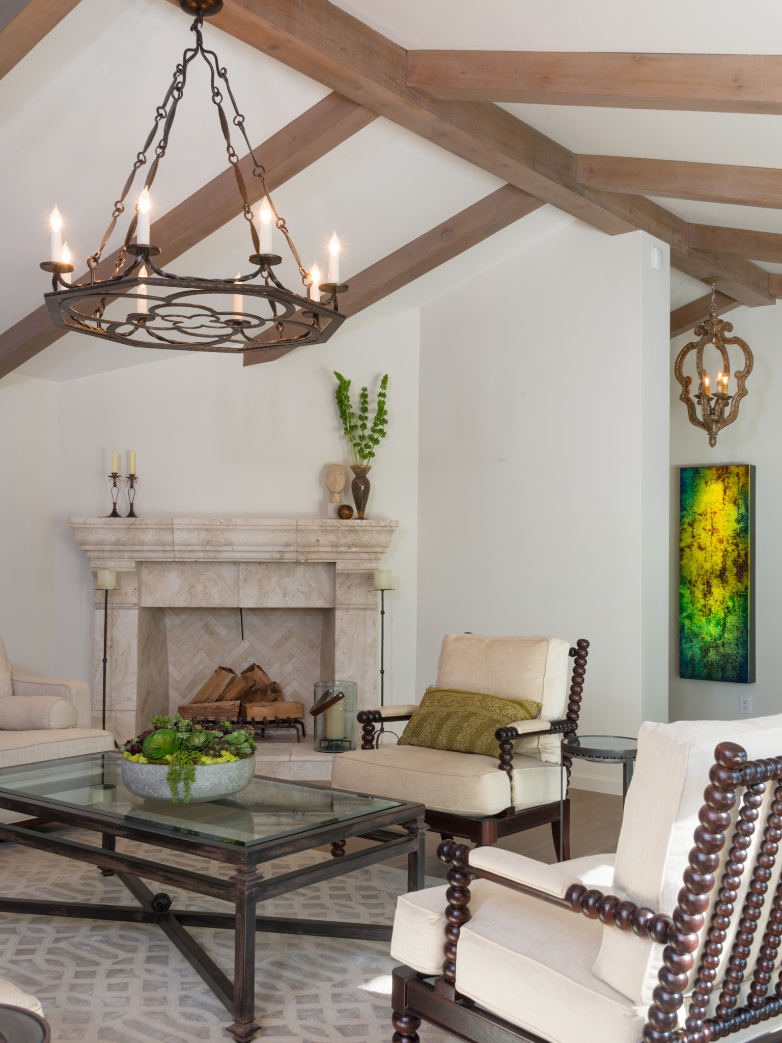 Mediterranean Style Living Room Seating Area (Image 16 of 25)
