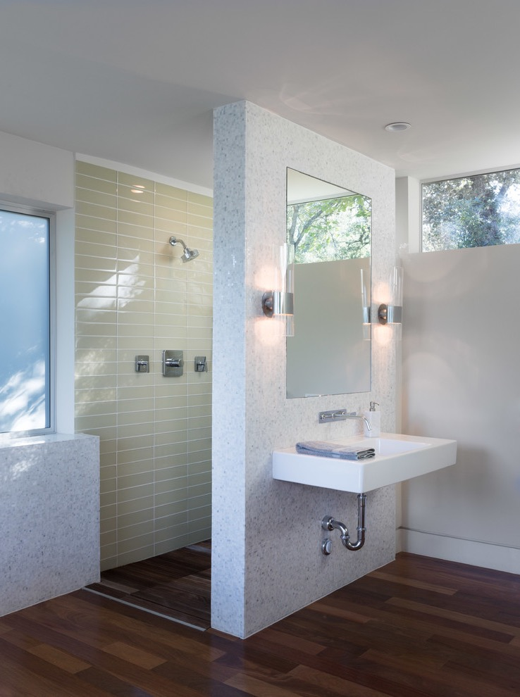 Mid Sized Contemporary Master Walk In Shower Interior  (Image 14 of 29)