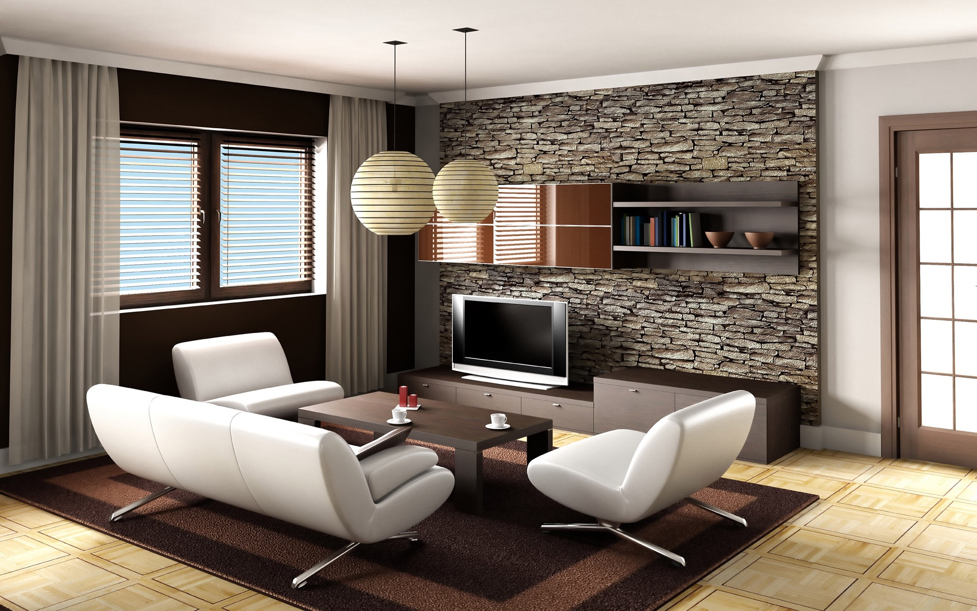 Minimalist Modern Living Room (Image 13 of 24)