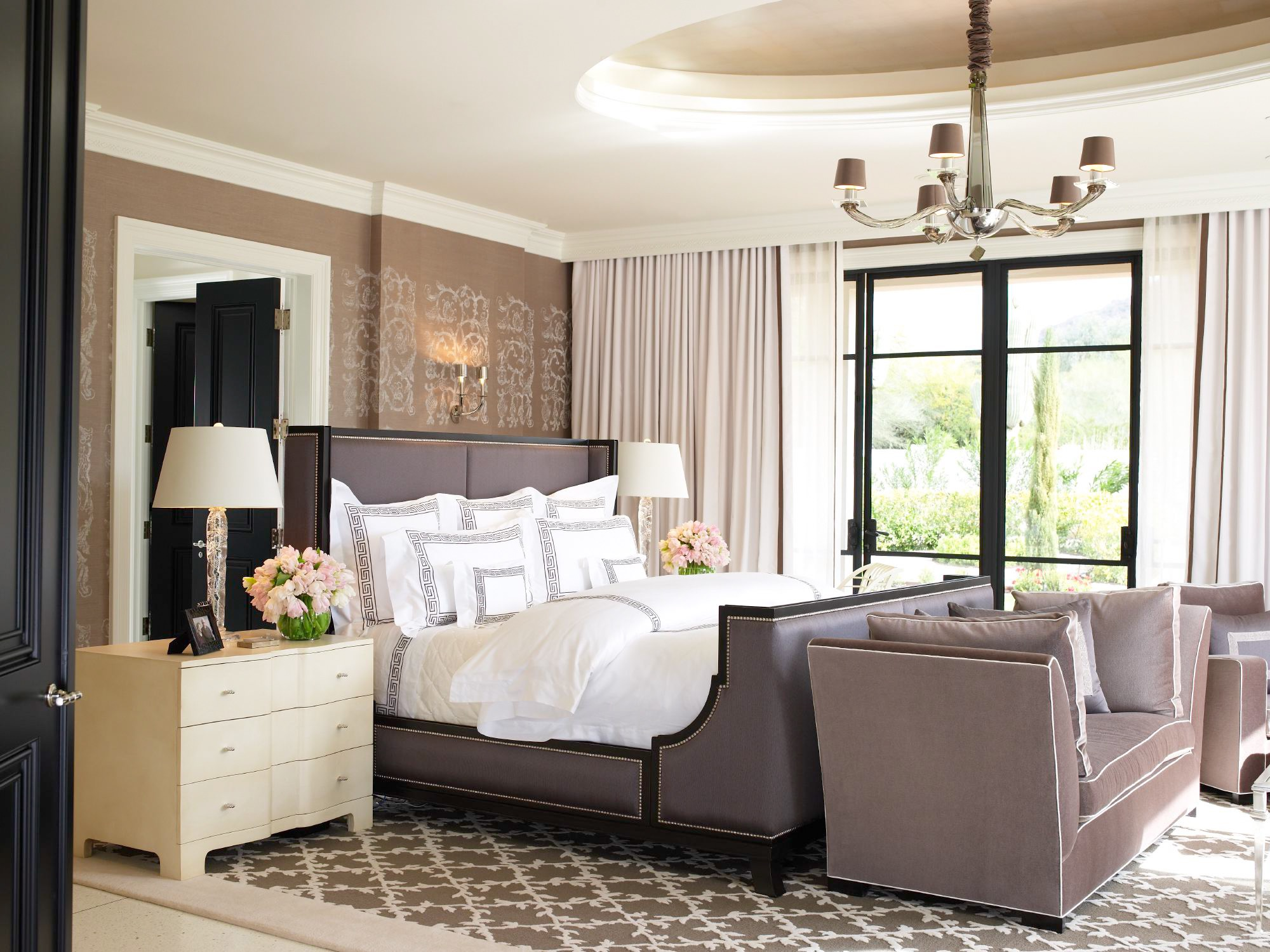 Modern Master Bedroom With Bedroom With Round Style Vaulted Ceiling (Image 18 of 32)