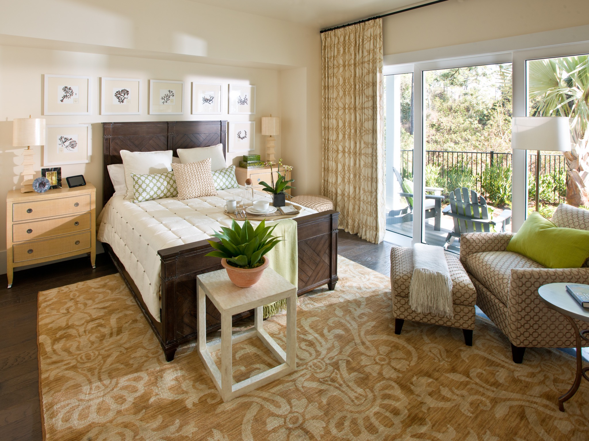 Modern Sliding Glass Door For Modern Contemporary Master Bedroom With Warm Hickory Floors (View 6 of 13)