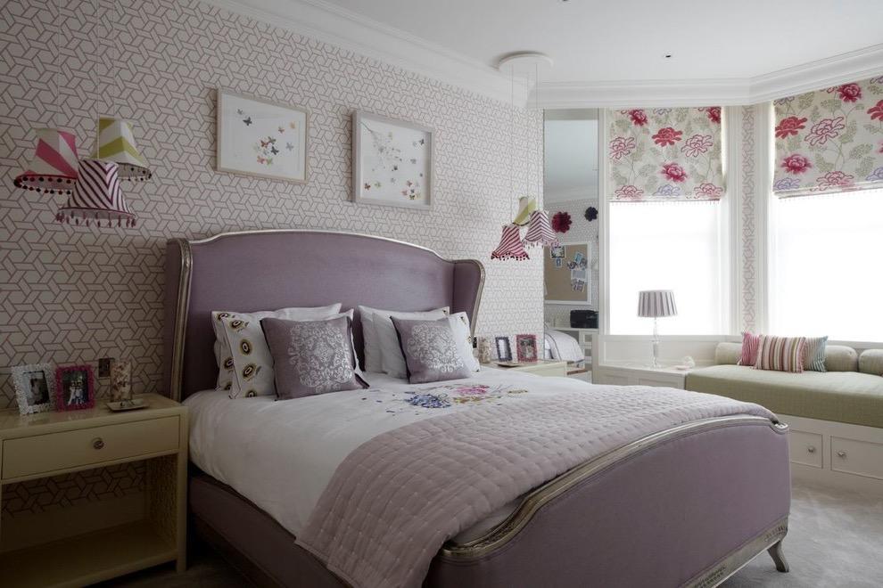 Modern Teenage Girls Bedroom In Purple Color Theme (View 21 of 30)