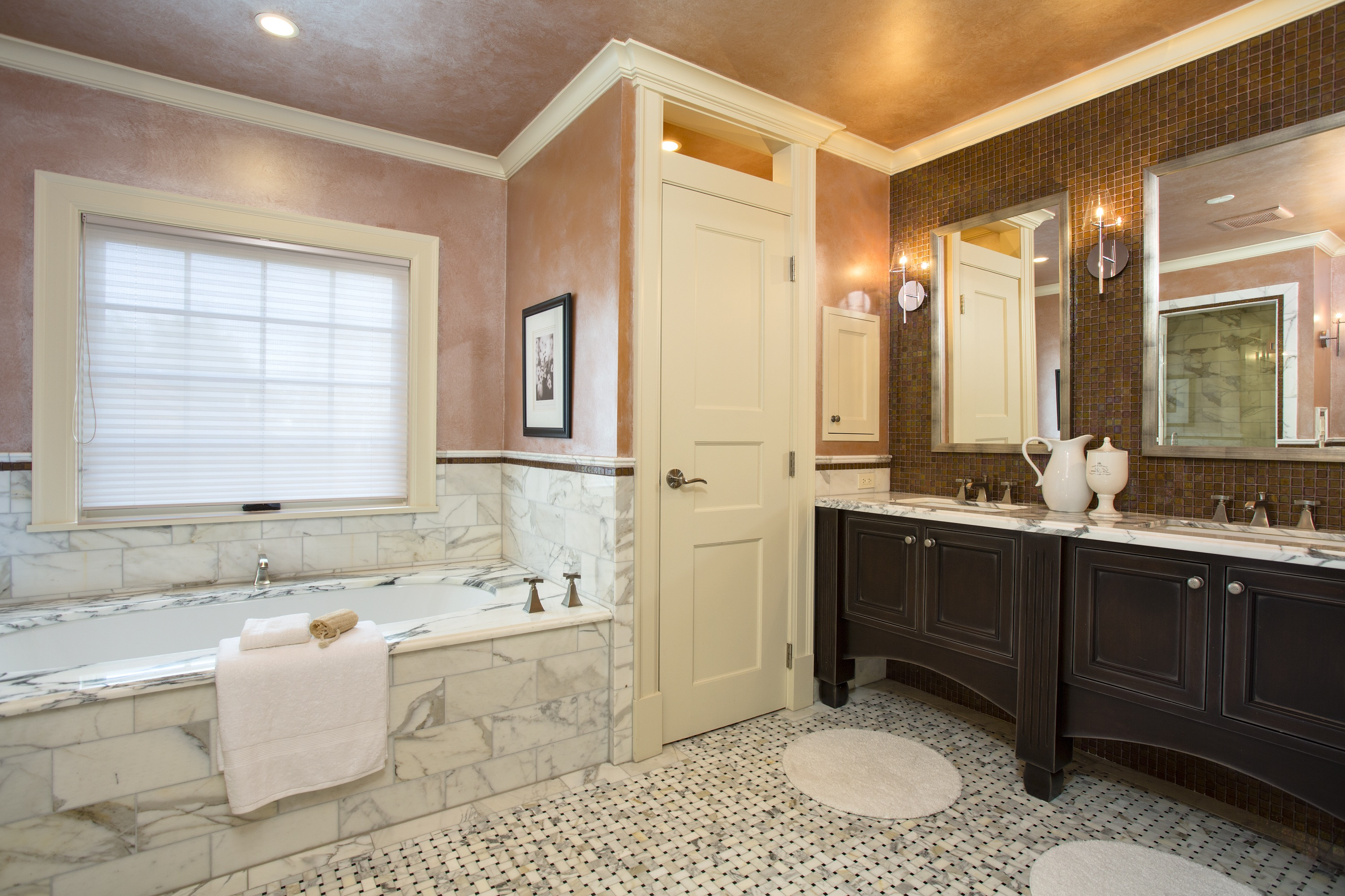 Bathroom classic bathroom interior design in elegant look for Neoclassical bathroom designs
