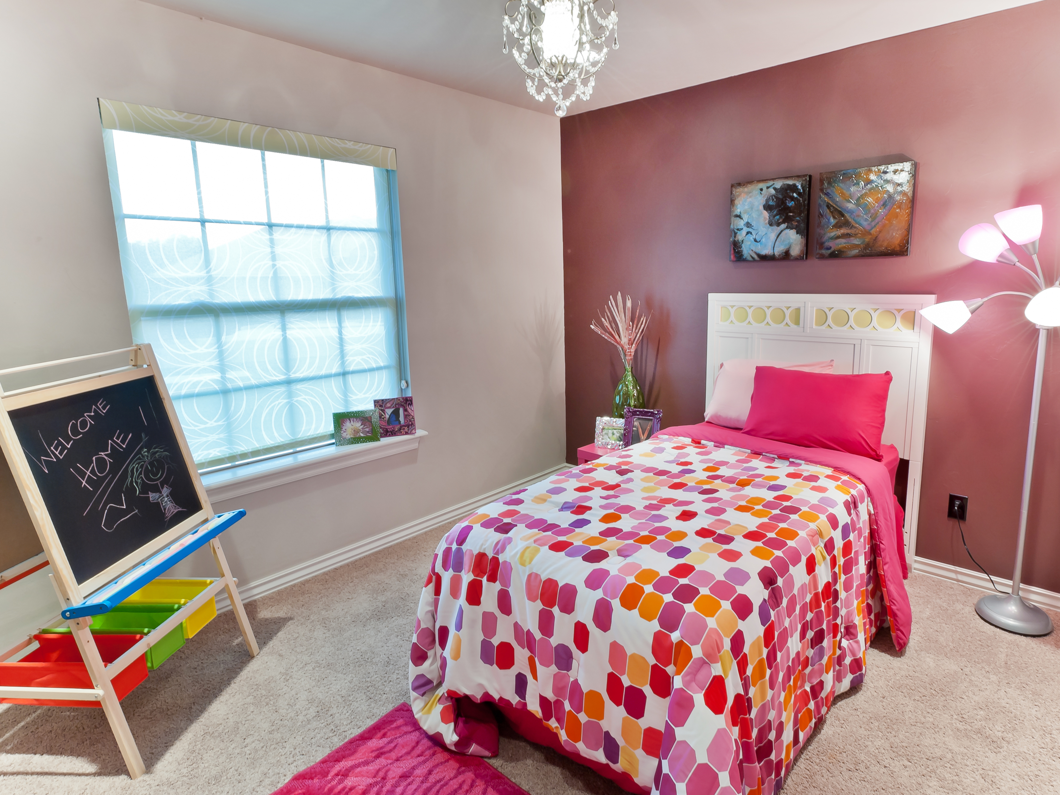 Pink Contemporary Kids Bedroom For Girls (Image 26 of 35)