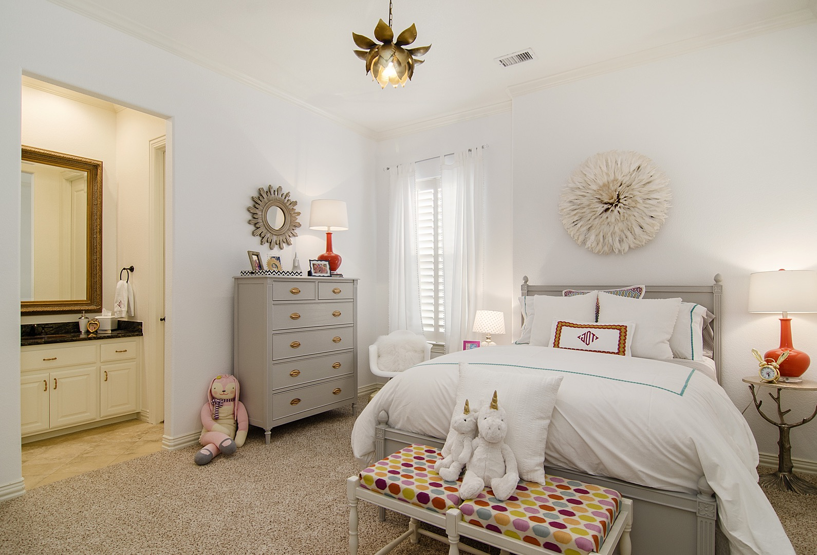 Pretty Contemporary Girl's Bedroom With Whimsical Accents (View 23 of 30)