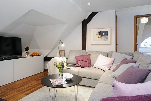 Simple Elegant Attic Living Room Remodel (Image 21 of 26)