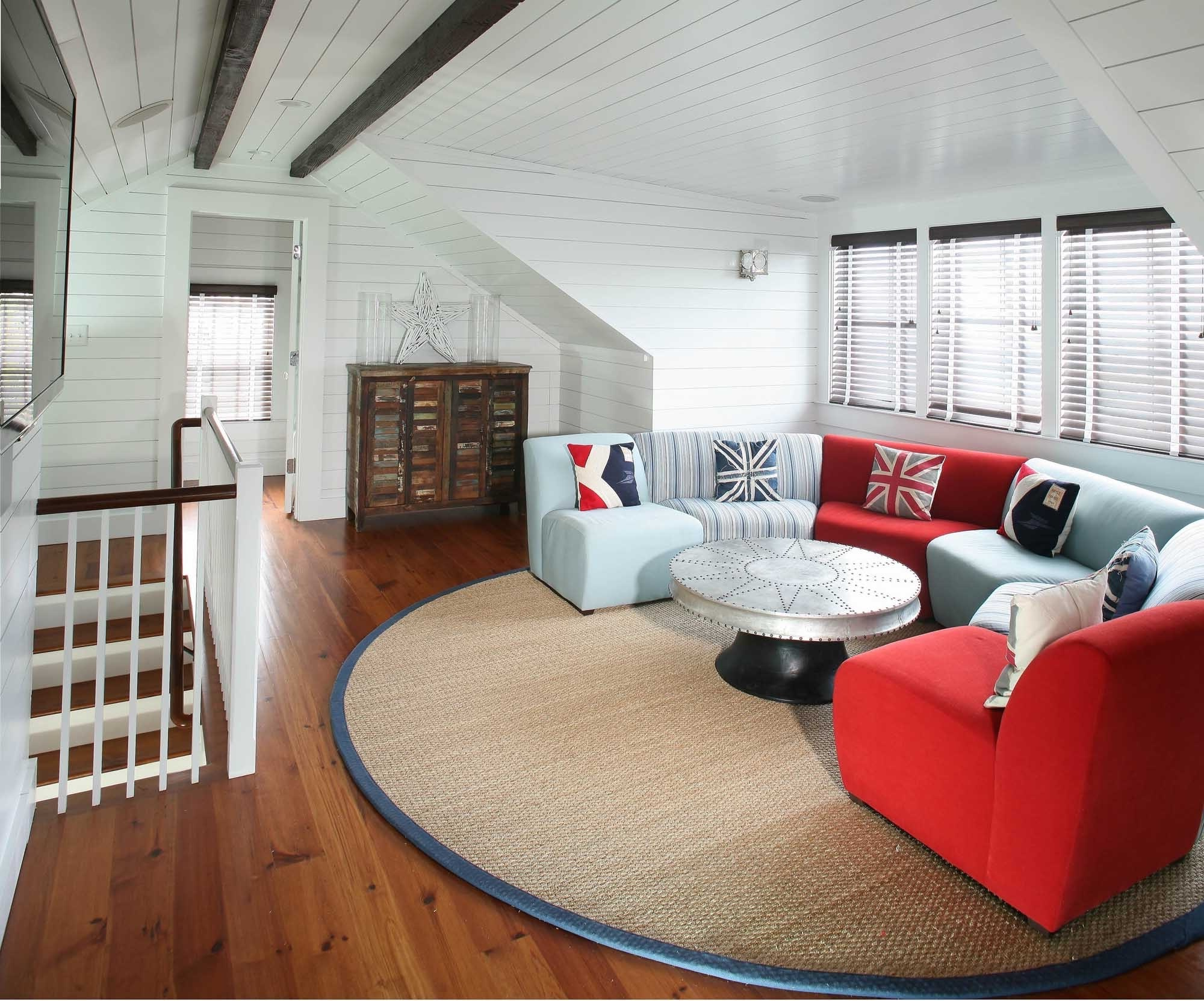 Simple Modern Attic Living Room Remodel (View 21 of 26)