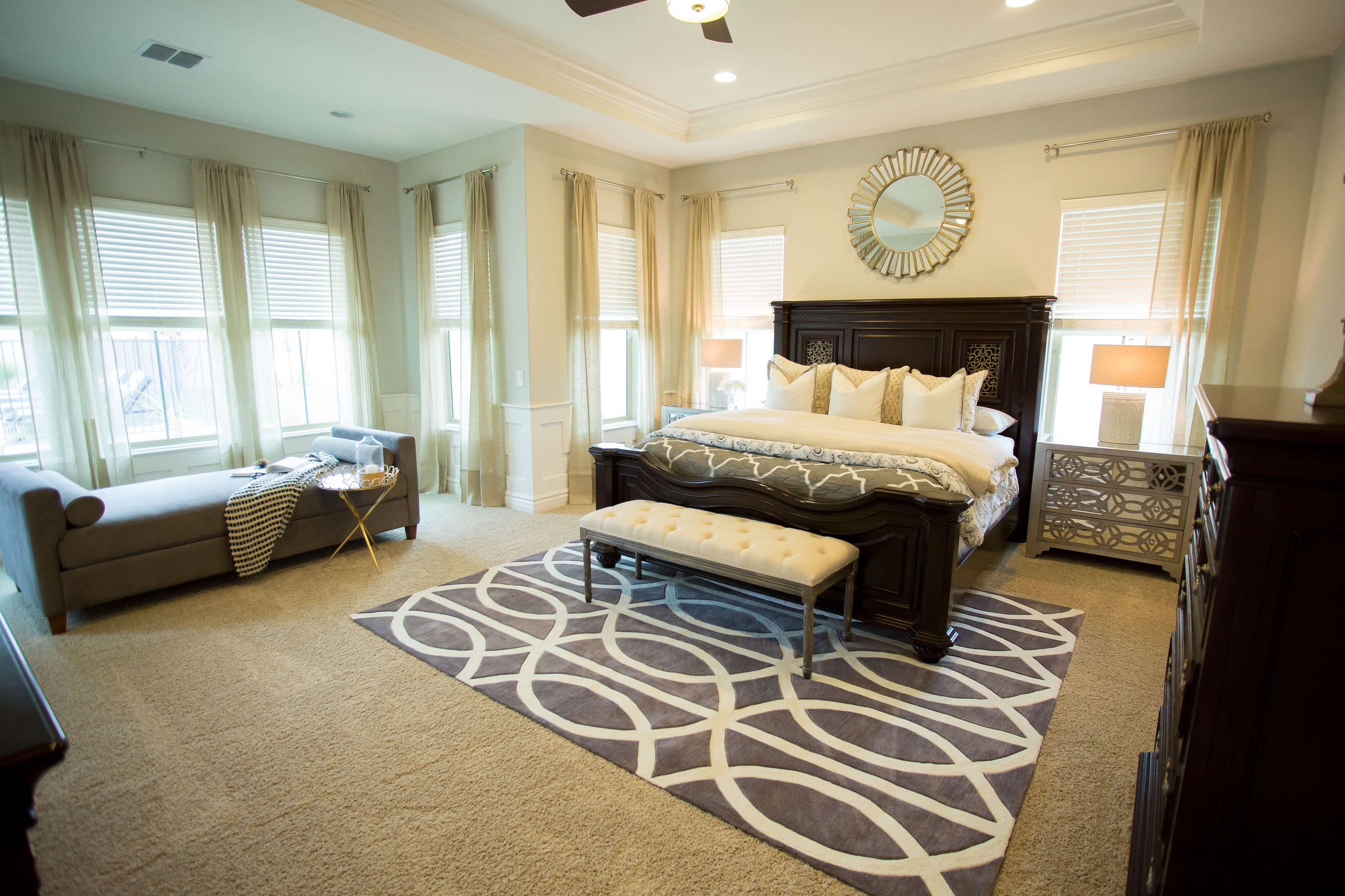 Sophisticated Parents Bedroom With Reading Nook (Image 29 of 30)