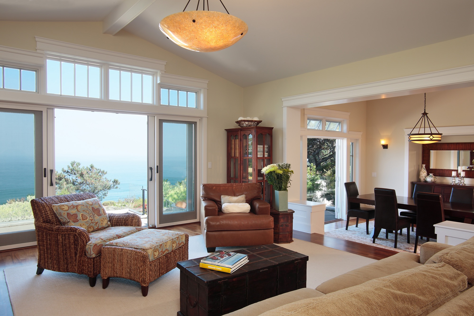 Traditional Wooden Sliding Glass Door For Modern Open Space Living Room (View 9 of 13)
