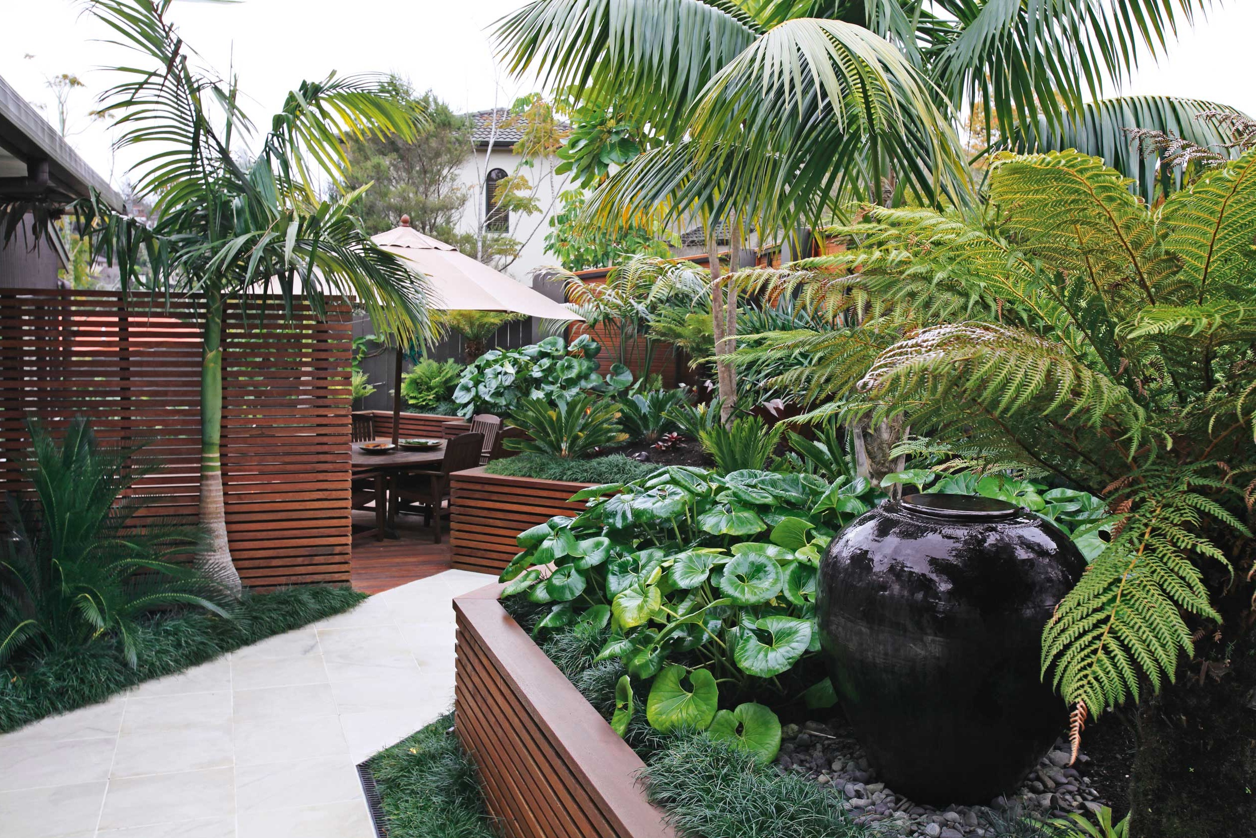 Tropical Home Garden For A Hot Style #16342 | Garden Ideas