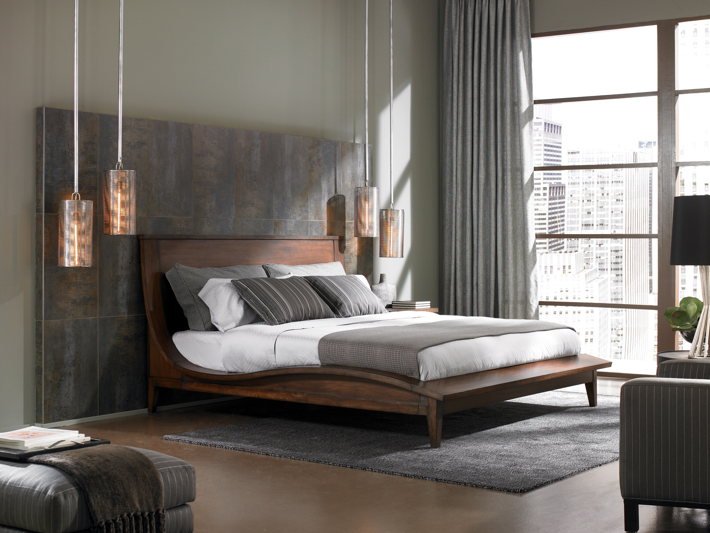 Urban Gray Bedroom With Modern Flair (View 22 of 23)