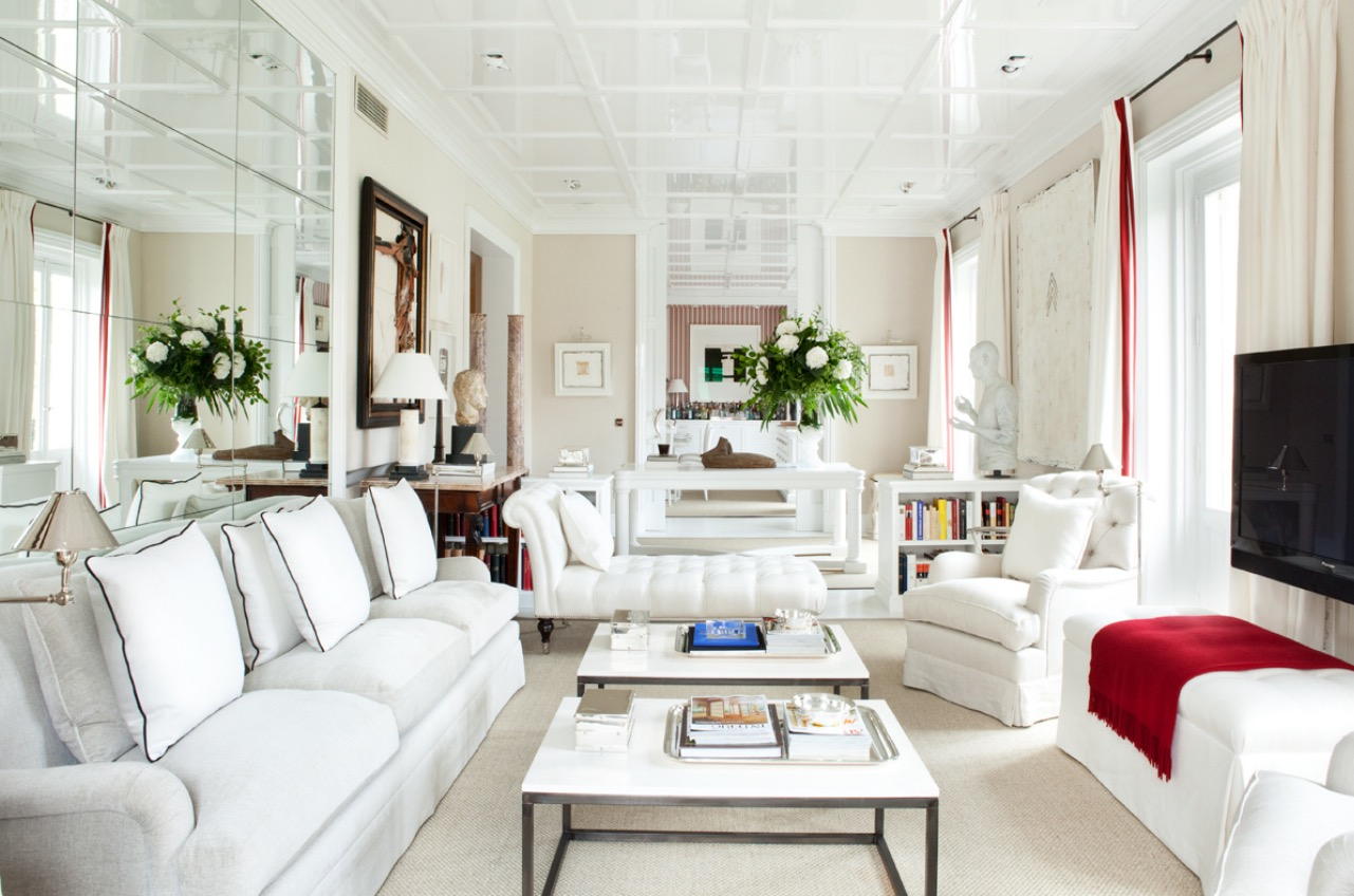 White Narrow Living Room  (Image 22 of 22)