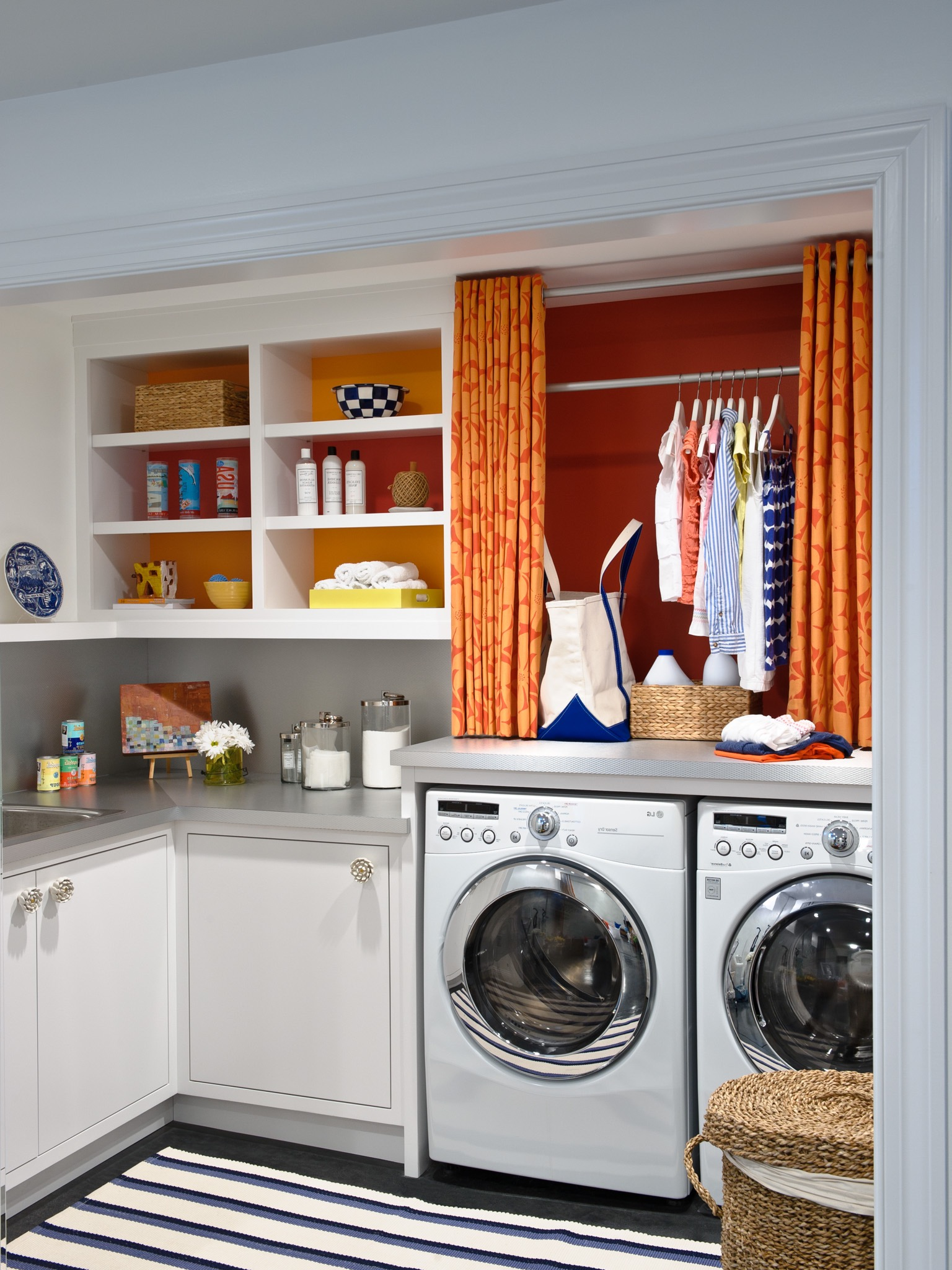 Basement Remodel To Cozy Modern Laundry Room (Image 3 of 26)