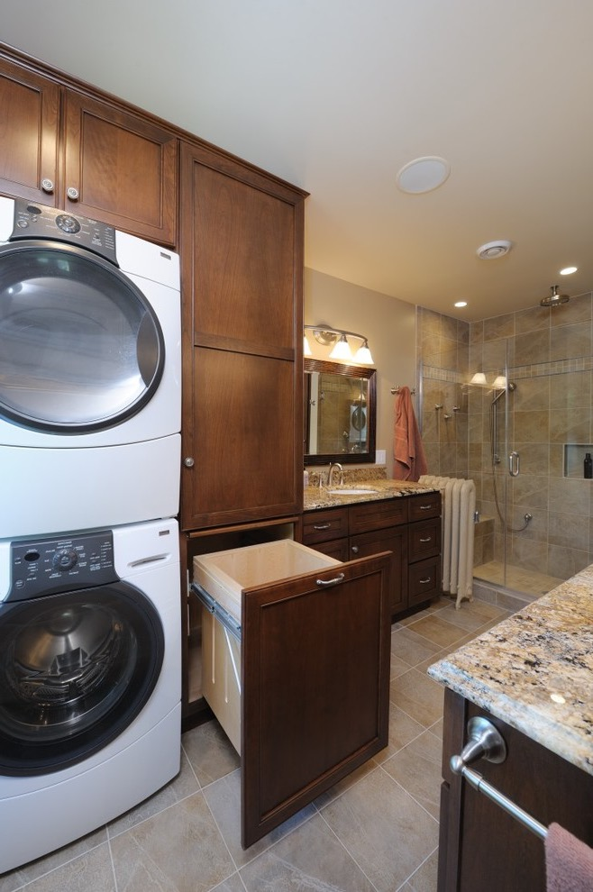 Classic Bathroom Design Combo With Laundry Room (Image 2 of 15)