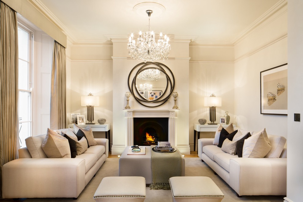 Classy Crystal Chandelier Lighting For Modern Living Room (Image 3 of 18)