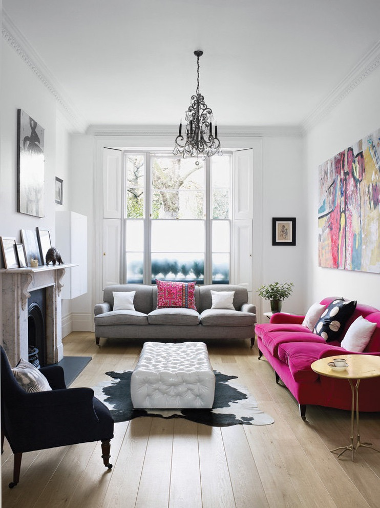 Comfortable Eclectic Living Room Decoration (View 7 of 27)
