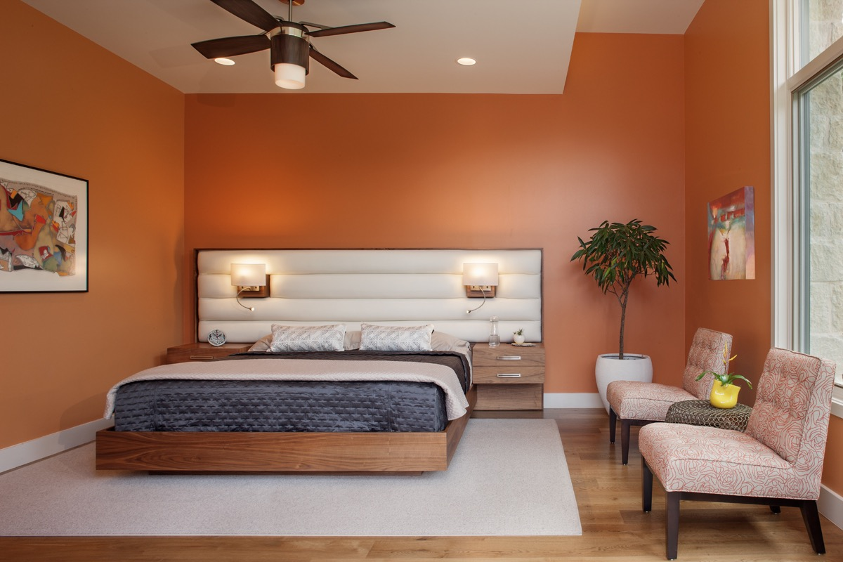 Contemporary Master Bedroom With Custom Platform Bed (Image 8 of 28)