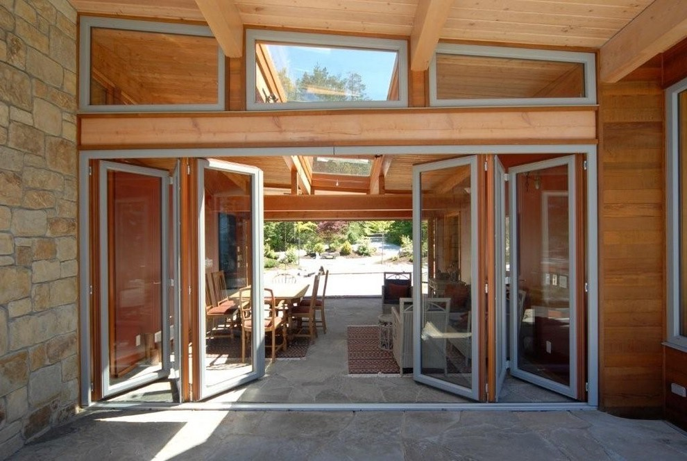Contemporary Bifold Slide Door For Outdoor Patio (Image 7 of 24)