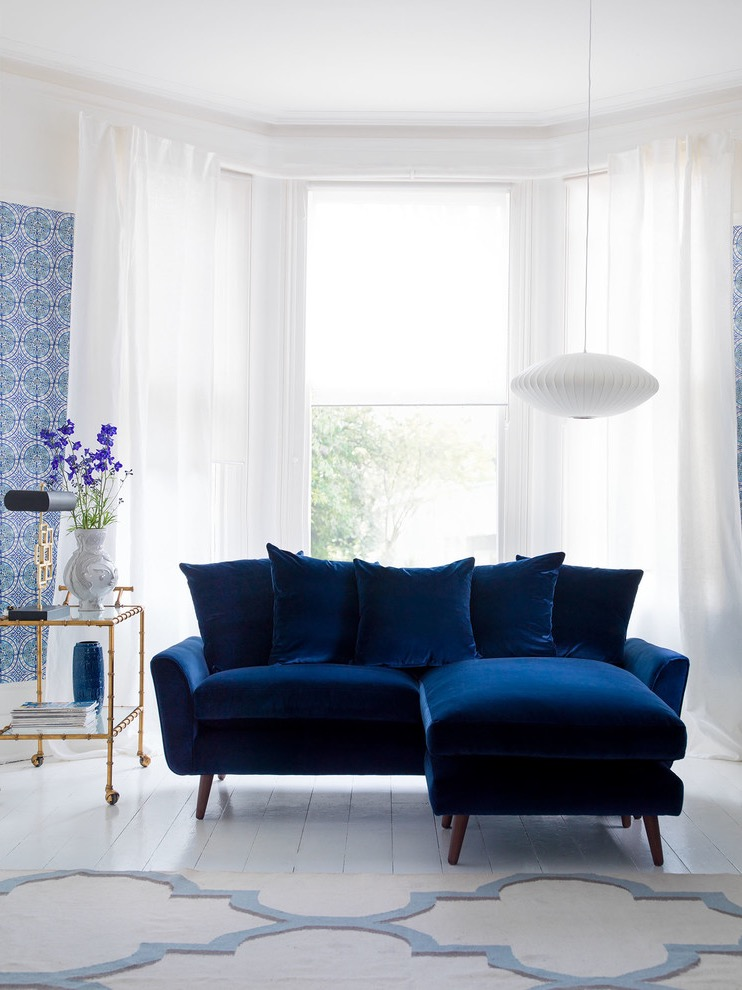 Modern Blue Sofa For Living Room Decoration #16189 ...