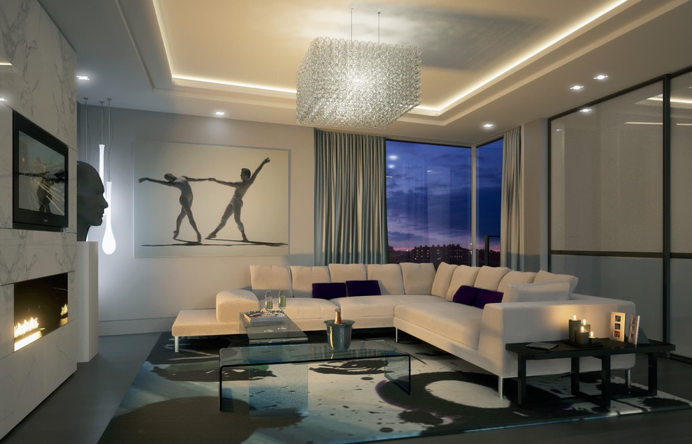Contemporary Cubical Crystal Chandelier For Luxury Living Room (Image 4 of 18)