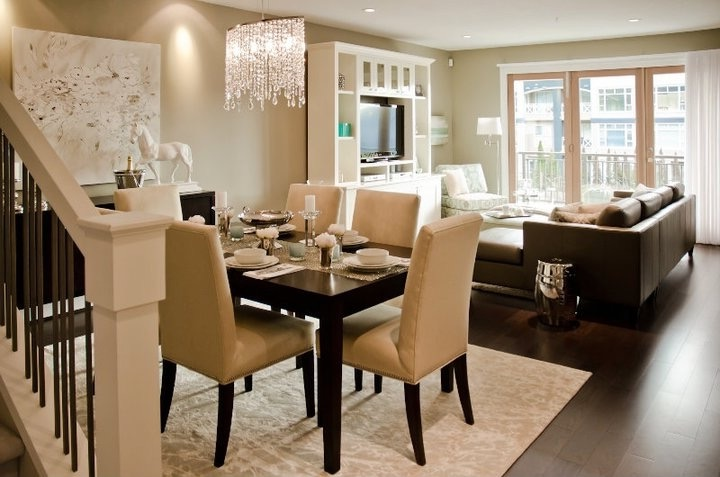Contemporary Living Room And Dining Room Interior Combo (Image 15 of 34)